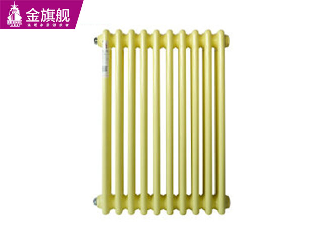 家用钢制暖气片 钢制三柱暖气片 黄色